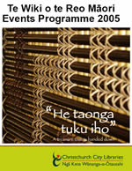 Maori Language Week programme