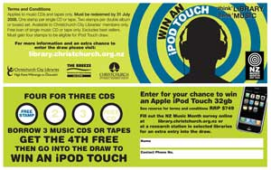 New Zealand Music Month card