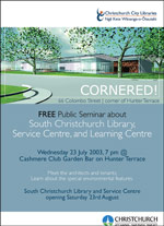 South Christchurch Library free public seminar - click to view as pdf