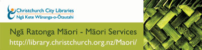 Māori services bookmark
