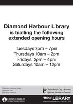 Diamond Harbour Library hours trial