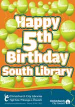 South Library 5th Birthday poster
