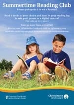 Summerime Reading Club poster