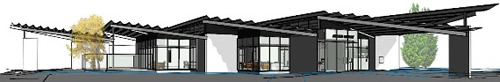 Artist's drawing of new Aranui Library