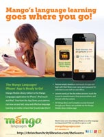 Mango Languages Poster: App on a beach