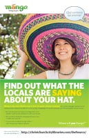 Mango Languages Poster: What are they saying about your hat?