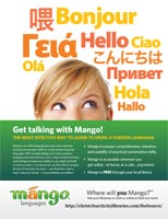Mango Languages Poster: Say Hello
