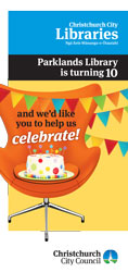 Parklands Library 10th Anniversary pamphlet