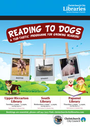 Reading to dogs term 2 poster