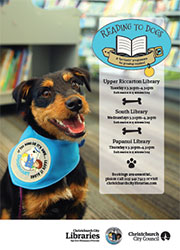 Reading to dogs poster