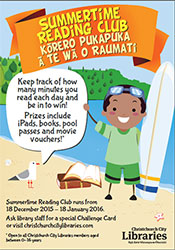 Summertime Reading Club ad