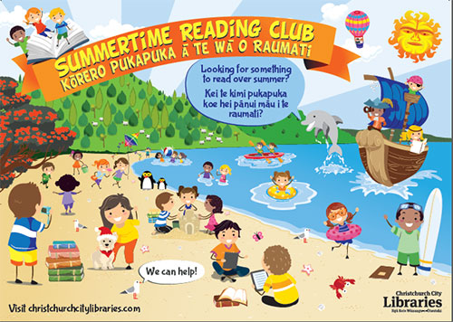 Summertime Reading Club poster