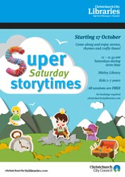 Super Saturday Storytime poster
