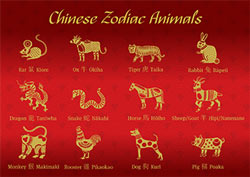 Chinese New Year Zodian animals