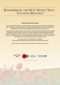 WW1 teaching resource cover letter