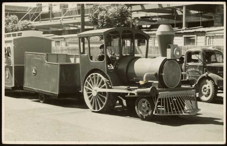 Thumbnail Image of Train float, Hay's Ltd Christmas pageant