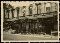 Aftermath of Ballantyne's Fire, view from Colombo Street