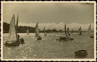 P-Class yacht racing at Sumner, Christchurch.