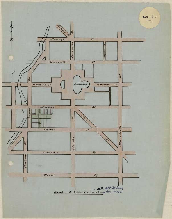 Thumbnail Image of No. 2. Plan of city streets to scale.