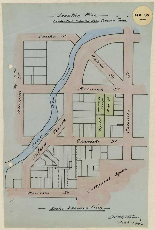 Thumbnail Image of No. 10. Location plan to scale showing locations Armagh St. and Gloucester Street