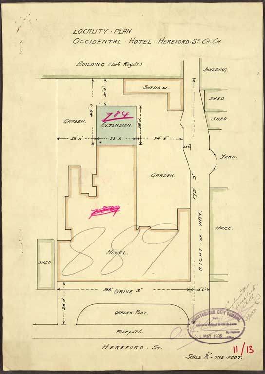 Image of Locality Plan Occidental Hotel