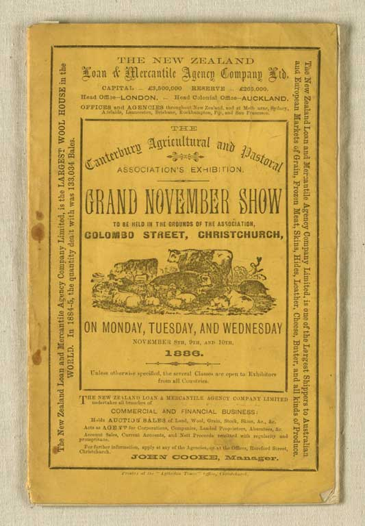Cover of Grand November Show booklet