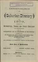 Cover of the Christchurch and suburban directory for 1879
