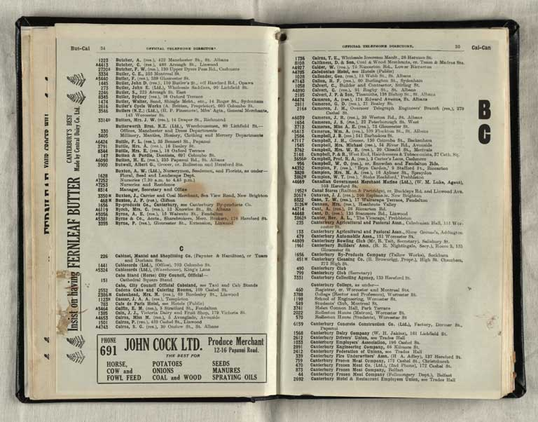 Thumbnail Image of Telephone directory. Christchurch