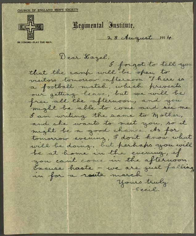 Image of [Letter to Hazel]
