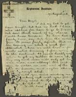 A Letter to Hazel, 17 August 1914.