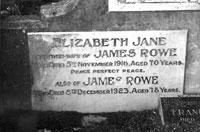 The Rowe gravestone
