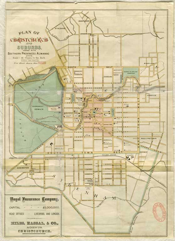 Image of Plan of Christchurch and suburbs
