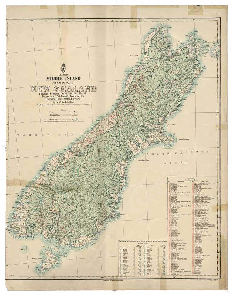 Middle Island (Te Wai-Pounamu) New Zealand : 1904 - Christchurch ...