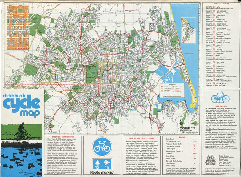 Image of Christchurch cycle map