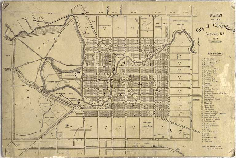 Image of Plan of the city of Christchurch, Canterbury, N.Z., 1874