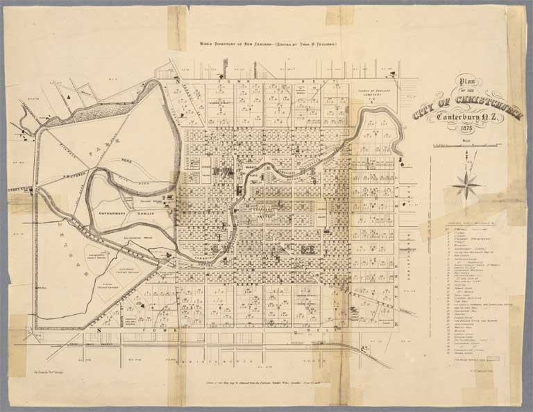 Image of Plan of the city of Christchurch, Canterbury, N.Z.