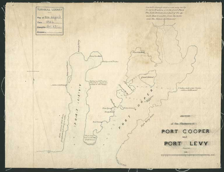 Image of Sketch of the harbours of Port Cooper and Port Levy