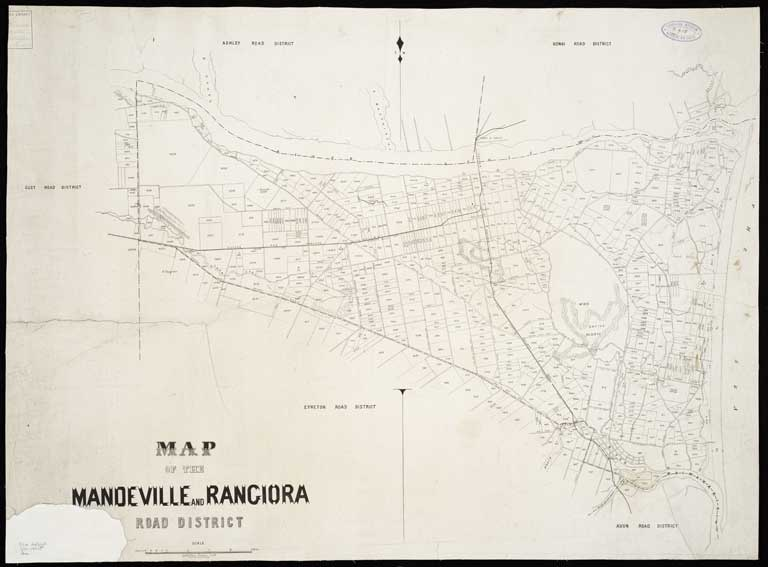 Image of Map of the Mandeville and Rangiora Road District