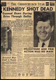 Page 1 of the Christchurch Star, November 23, 1963