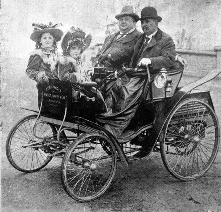 Charles Nicholas Oates (1853?-1938) and his motor-car