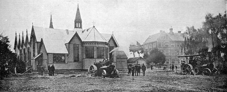 Photograph of the removal of pro-Cathedral
