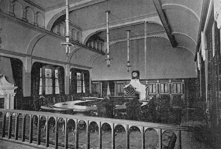 Interior of Council Chamber, corner of Worcester Street and Oxford Terrace, Christchurch