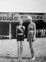 Margaret Anderson and her sister pictured on New Brighton beach