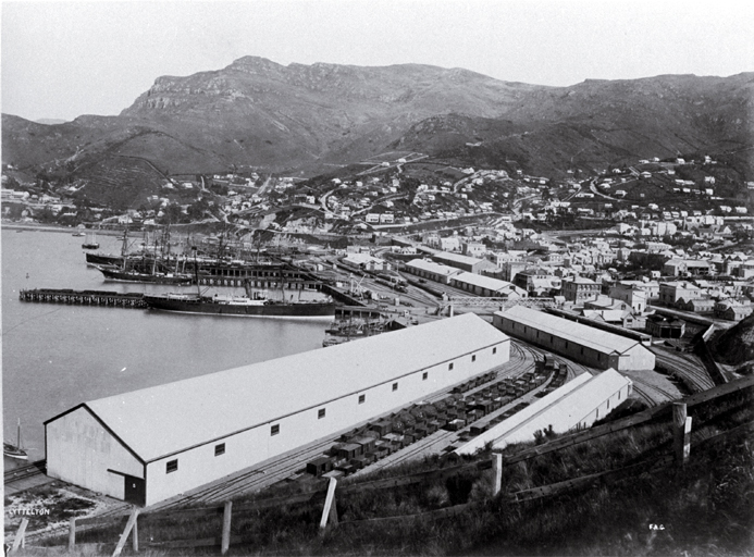 Photo of Lyttelton and harbour [ca. 1888]