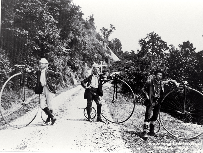 Members of the Pioneer Cycling Club, the Pioneers, on the West Coast Road