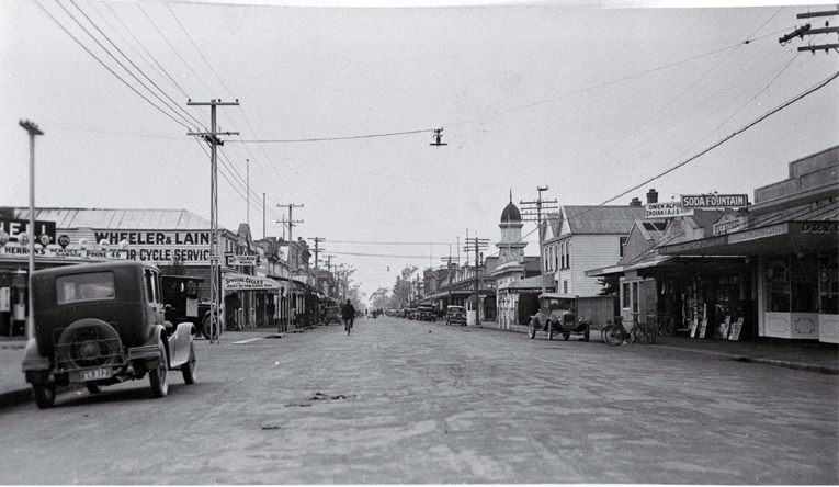 Looking east down High Street, Rangiora