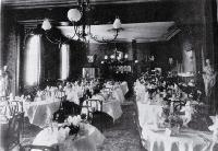 The public dining room at Coker's Hotel in Manchester Street