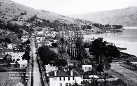 A view from a postcard of Akaroa township [21 June 1932]