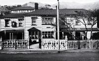 Ifracombe, formally Parker's House, was a private hotel that was on the corner of Beach Road and Church Street, Akaroa [193-?]