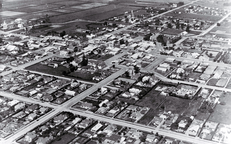 An aerial view of Waimate